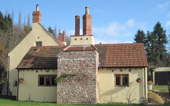 Another view of the property showing the chimneys