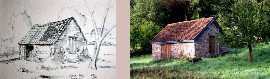 The cider mill before and after rebuilding